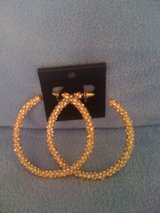 REDUCED!!!New,Sexy ,Gold & Diamonds Hoops in DeRidder, Louisiana