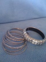 REDUCED!!!New,Silver 9 Piece Set of Bracelets in Fort Polk, Louisiana