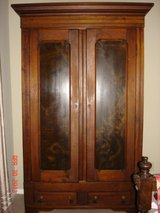 Antique Walnut Wardrobe in Conroe, Texas